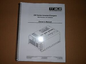 Trace engineering sw series invertercharger manual ebay image is loading trace engineering sw series inverter charger manual cheapraybanclubmaster Image collections