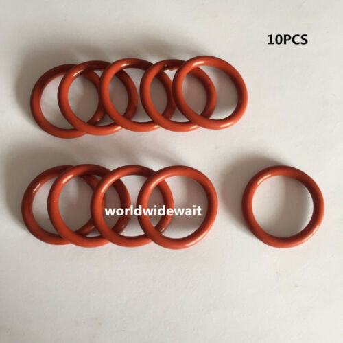 10PCS 15mm x 3.5mm Thickness Industrial Red Silicone O Rings