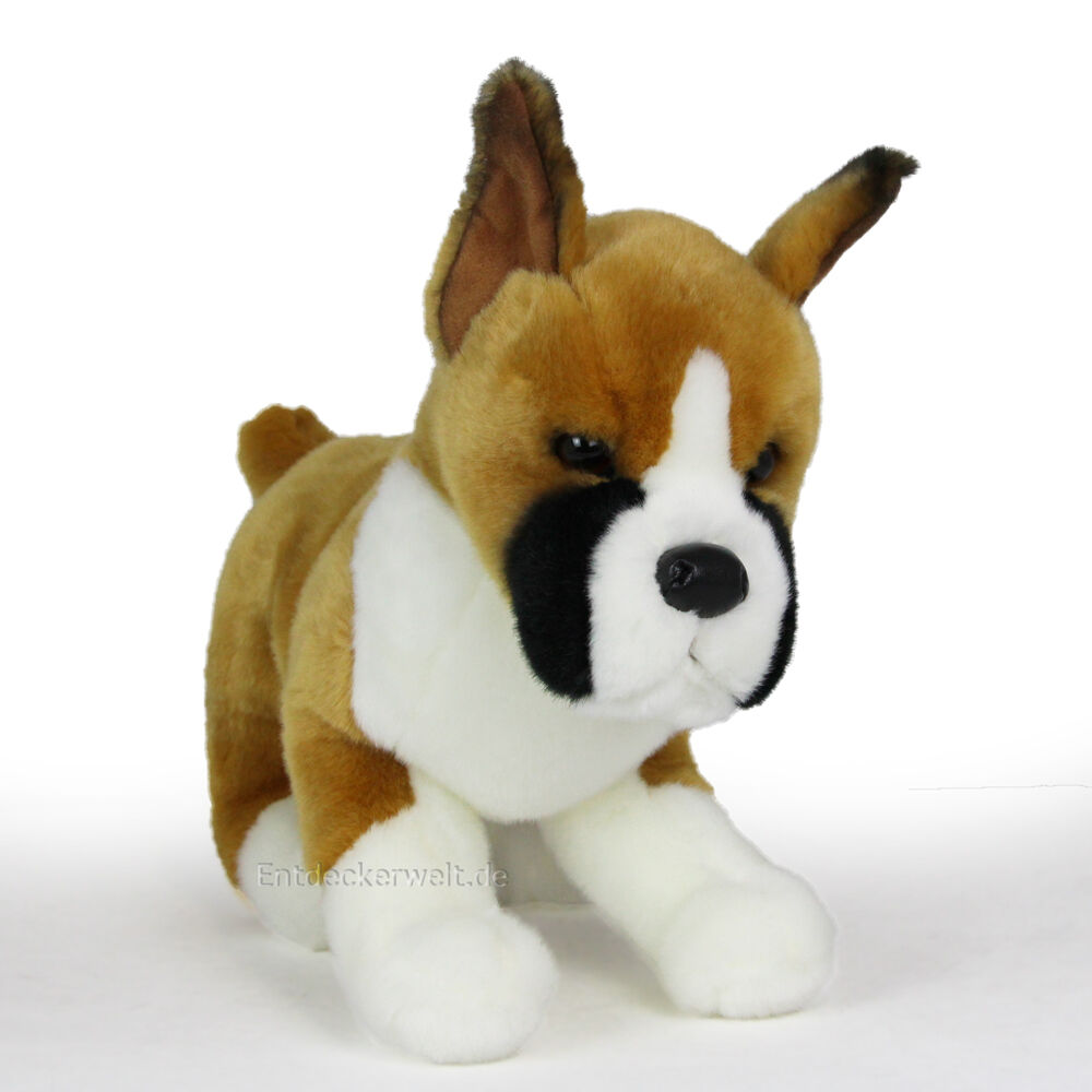 Stofftier Boxer, Hund, Plüschtier, ca. Kuscheltier (Höhe ca. Plüschtier, 27cm) 76c69d