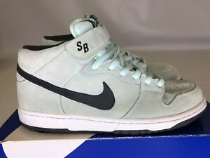 new product 18b07 63dab Image is loading Nike-Dunk-Mid-Pro-SB-Ice-Green-Dark-