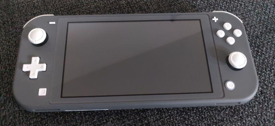 Nintendo Switch, Lite grå, Perfekt