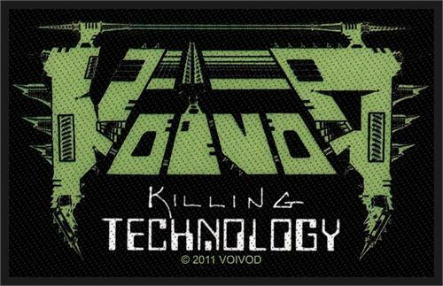 """Voivod Killing Technology Woven Sew On Patch 4/"""" x 2.5/"""""""
