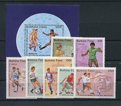 Fußball .........................2/817 Burkina Faso 988/94 Block 94 Postfrisch Briefmarken