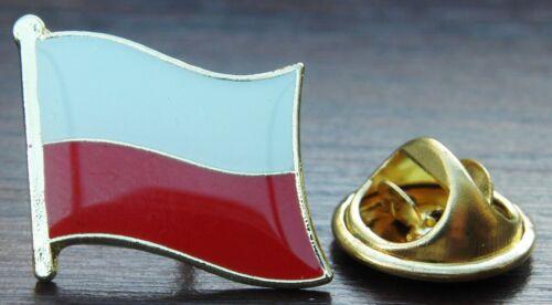 Poland Polish Country Flag Lapel Hat Cap Tie Pin Badge Brooch