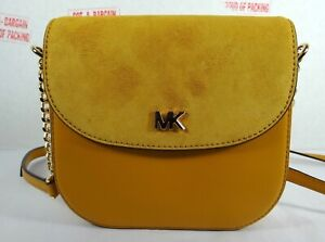 2bb8323fb3d631 Image is loading Michael-Kors-Half-Dome-Pebbled-Leather-Small-Crossbody-