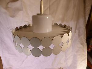 GRAND LUSTRE ANCIEN LAMPE SUSPENSION LAMPE TÔLE METAL DESIGN USINE 1950 60 LOFT