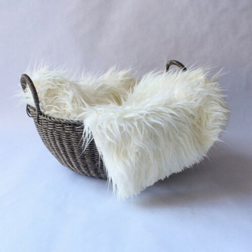 Newborn Faux Fur Photography Photo Props Blanket Basket Stuffer Rug Background