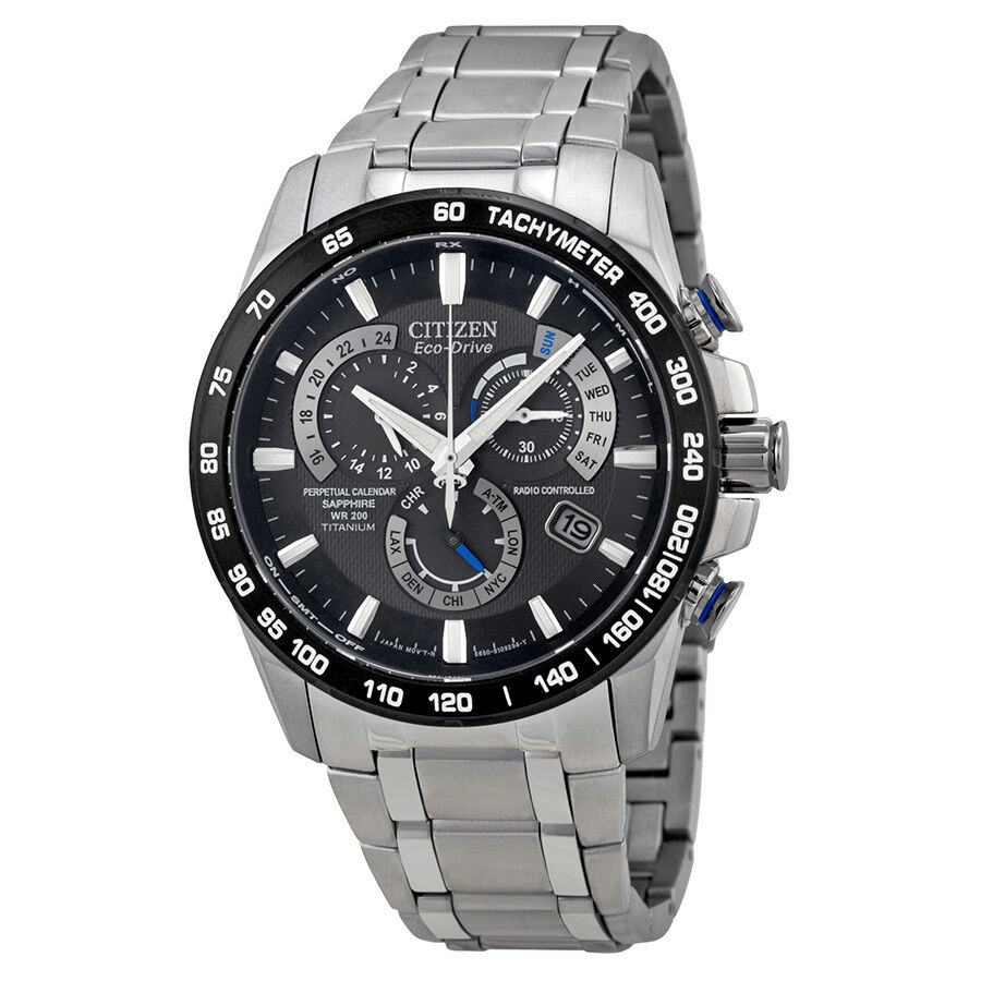 Cross border:- Citizen Perpetual Chrono A-T Eco-Drive Titanium Chronograph Mens Watch low price