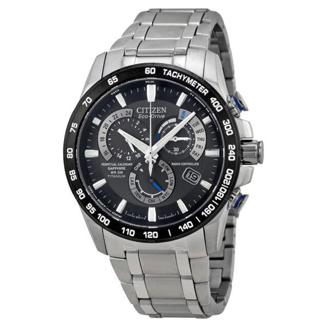 Citizen Perpetual Chrono A-T Eco-Drive Titanium Mens Chronograph Watch