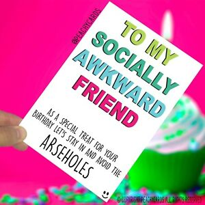 Image Is Loading Funny Birthday Card Friend BFF Friendship