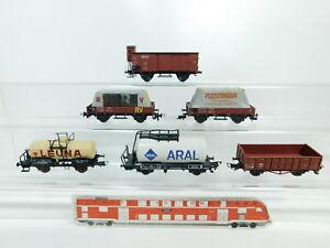 BG755-1-6x-Fleischmann-H0-DC-Bastler-Gueterwagen-DB-DRG-Leuna-Aral-etc