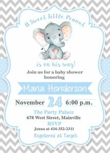 Elephant baby shower invitationboy elephant baby invitation image is loading elephant baby shower invitation boy elephant baby invitation filmwisefo
