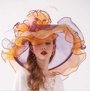 Eleganter Damenhut Visier Strohhut Hochzeit Flache Kappe Bestickt Bow Hut 02