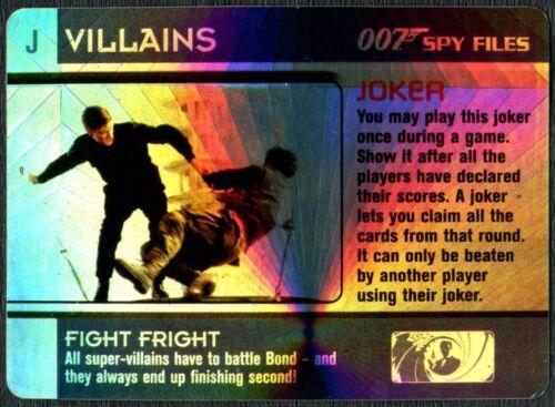 Fight Fright Joker Villains 007 Spy Files 2002 James Bond Foil Trade Card C1863