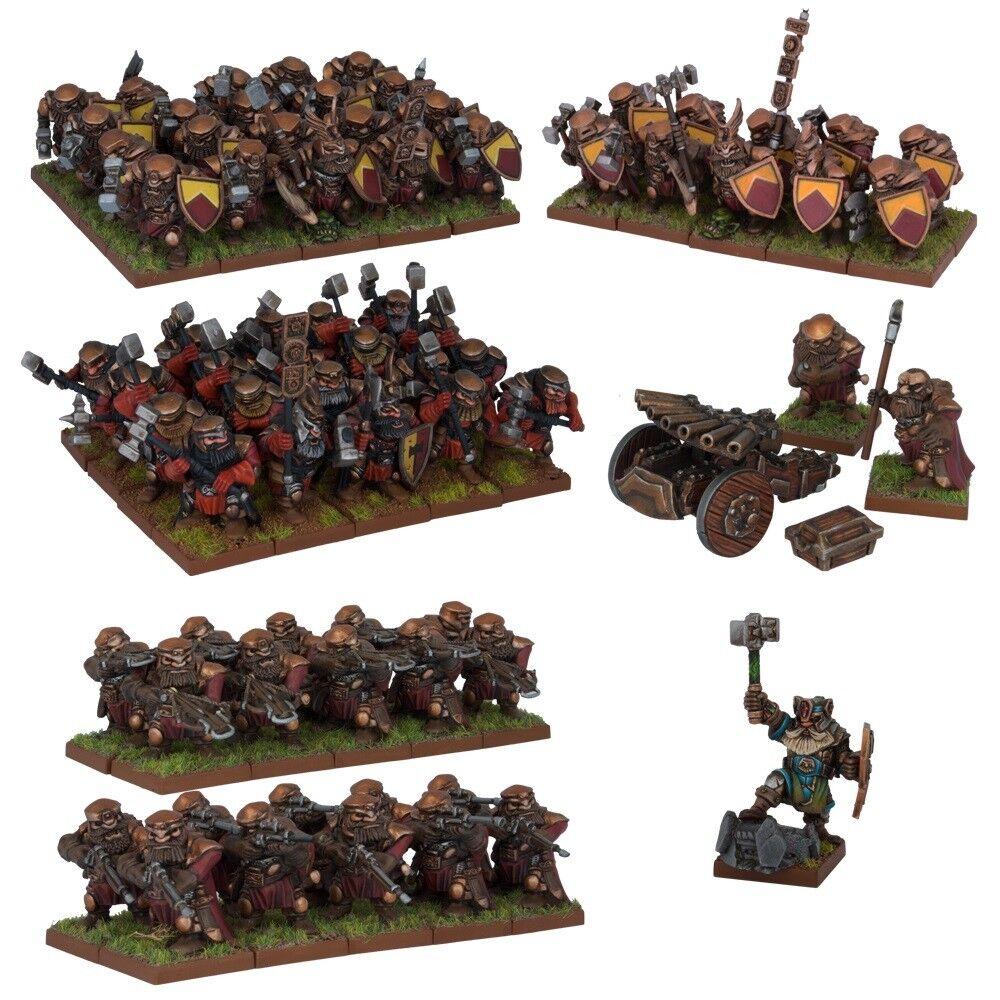 Enano Ejército Box Set-Reyes De Guerra - 74x Miniatures