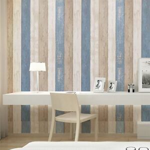 Image Is Loading Stick And Wood Panel Wallpaper Sea