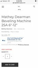 Mathey Dearman 2sa 6 12 Beveling Machine Has Only Made 35 Cuts Or So