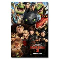 P129 Art Decor How to Train Your Dragon 3 The Hidden World Hot Movie Silk Poster