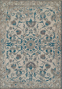 Traditional Rugs 8x10 Blue Gray Distressed Persian Rug 5x8