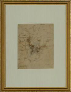 Attrib. Arthur Cust (1842-1911) - Pen and Ink Map, Northern Italy