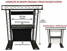 DJ Event Facade White/Black Scrims Triangle Truss Booth 6.56 Arch truss System