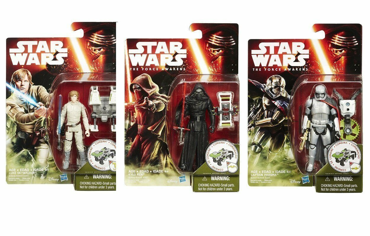 STAR WARS THE FORCE AWAKENS 3.75-INCH 3 OF SET FIGURE FOREST MISSION