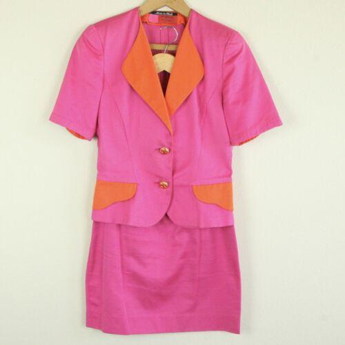 Vintage 80s 90s Emanuelle Ungaro Pink Orange Color