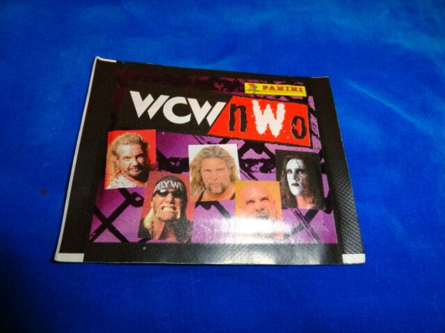 1999 Panini WCW nWO Wrestling Stickers Pack From Box!