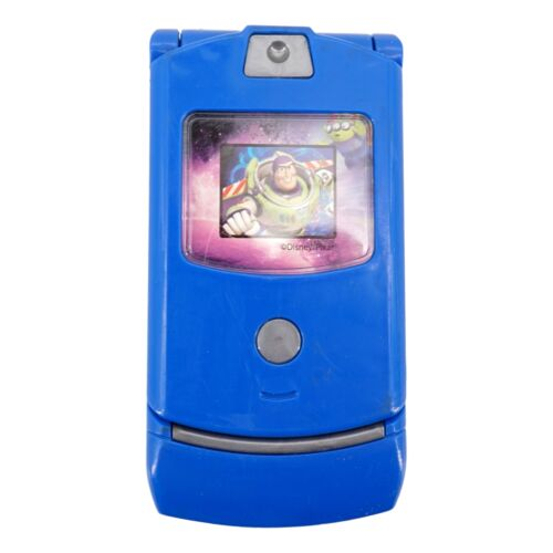 Dialing Sounds Pretend Play Toy Toddler Blue Toy Flip Phone Toy Story, Blue