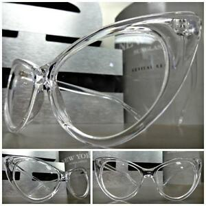 About Clear Glasses Eye Lens Cat Transparent Frame 60's Womens Style Retro Vintage Details vm8w0nN