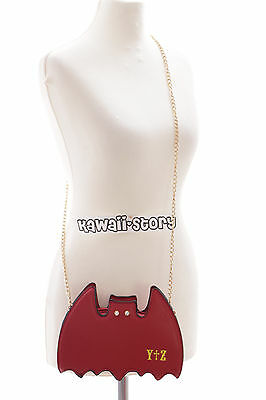 LB-46-2 Bat rot Fledermaus Vampir Punk Lolita Gothic Harajuku Umhänge-Tasche
