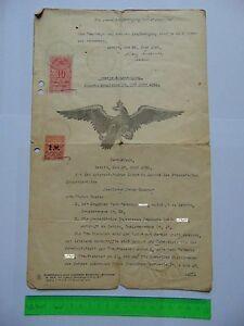 Ehevertrag-von-1921-mit-Stempelmarken-Fiskalmarken-10-und-2-Mark
