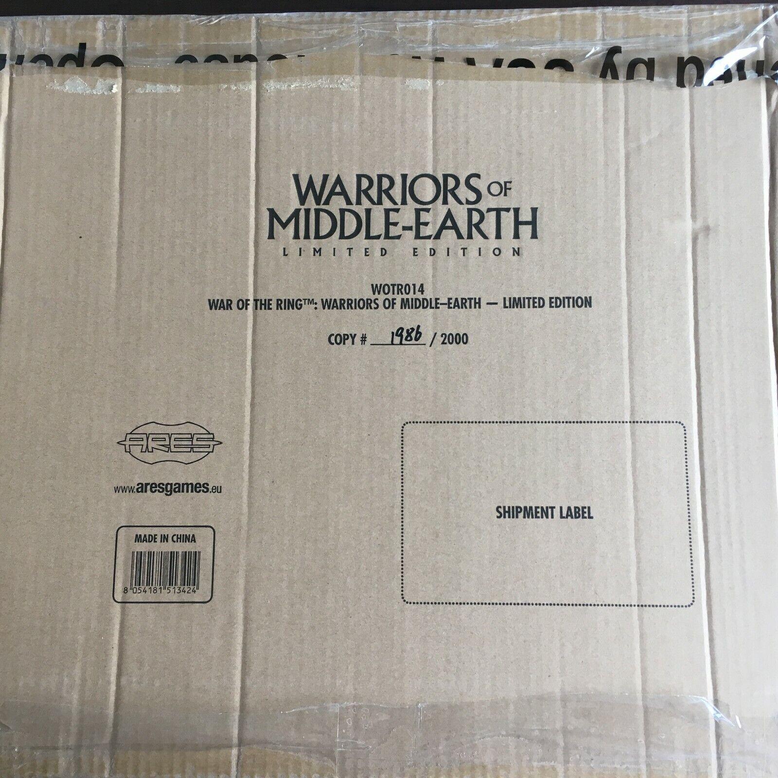 War of the Ring Expansion  Warriors  of Middle Earth Limited edizione bre nuovo  negozio a basso costo