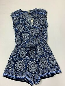 Floral Wrap Blue Large New Max Stretch Medallion Studio White Pagliaccetto awqwXYFZ
