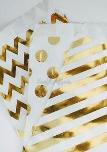 Gold-foil-paper-bags-25-POLKA-DOT-BAGS
