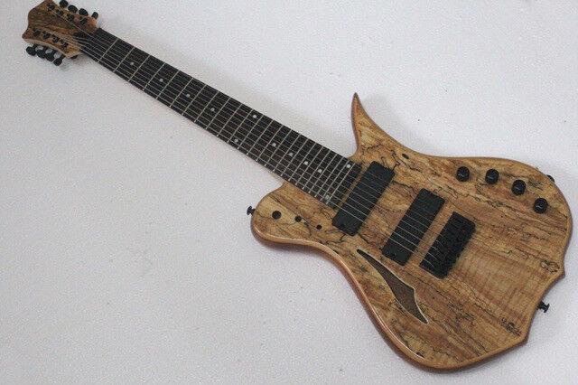 Nueva guitarra eléctrica de 8 cuerdas cuerdas cuerdas con cuerpo semi hueco 3d9641