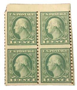 1919-US-Postage-Stamp-538a-Mint-NH-Very-Fine-Original-Gum-Block-of-4-CV-250