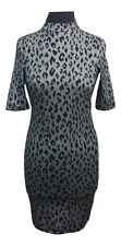 TOPSHOP Dress Size 6 Black Silver Sparkle L32in Party Summer Holiday Evening