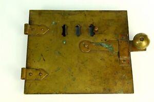 ! Antique Bronze & Cast Iron Fireplace Stove Oven Door ...
