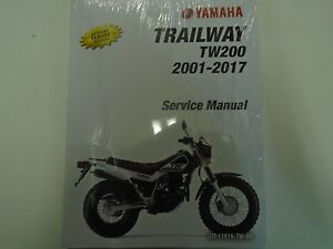 2013 2014 2015 2016 2017 yamaha tw200 trailway tw 200 owners service rh ebay com yamaha tw 200 repair manual yamaha tw200 service manual download
