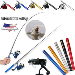 Mini-Portable-Pocket-Fish-Pen-Shape-Aluminum-Alloy-Fishing-Rod-Pole-Reel-5-Color