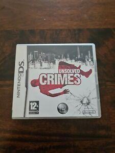 Crimes-non-resolus-Nintendo-DS-Jeu-byvg-le-Bon-Marche-Rapide-Livraison-Gratuite