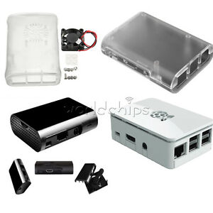 Transparent-Cooling-Fan-White-Black-ABS-Cover-Box-Case-For-Raspberry-Pi-3-2