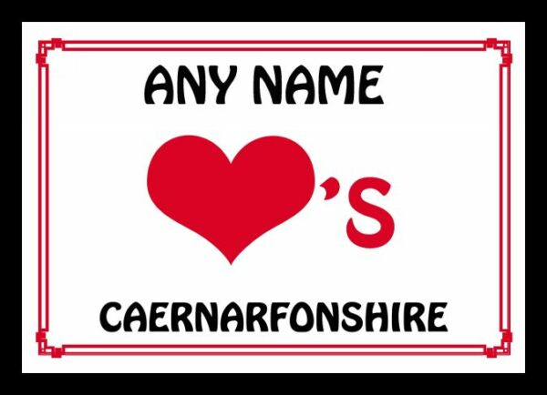 2019 Moda Amore Cuore Caernarfonshire Placemat Personalizzato-e Personalised Placemat