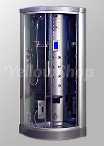 Cabina Doccia Multifunzione 80x80.Box Cabina Cm 80 X 80 X 215 Doccia Idromassaggio Con Sauna Vapore