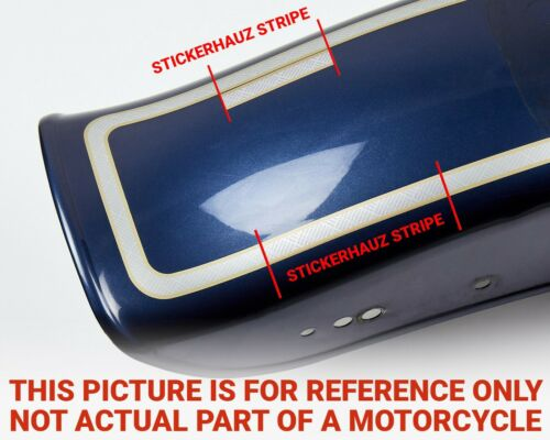 Details about  /Harley Davidson 100th Anniversary stretched saddle bag decals stripes # 38