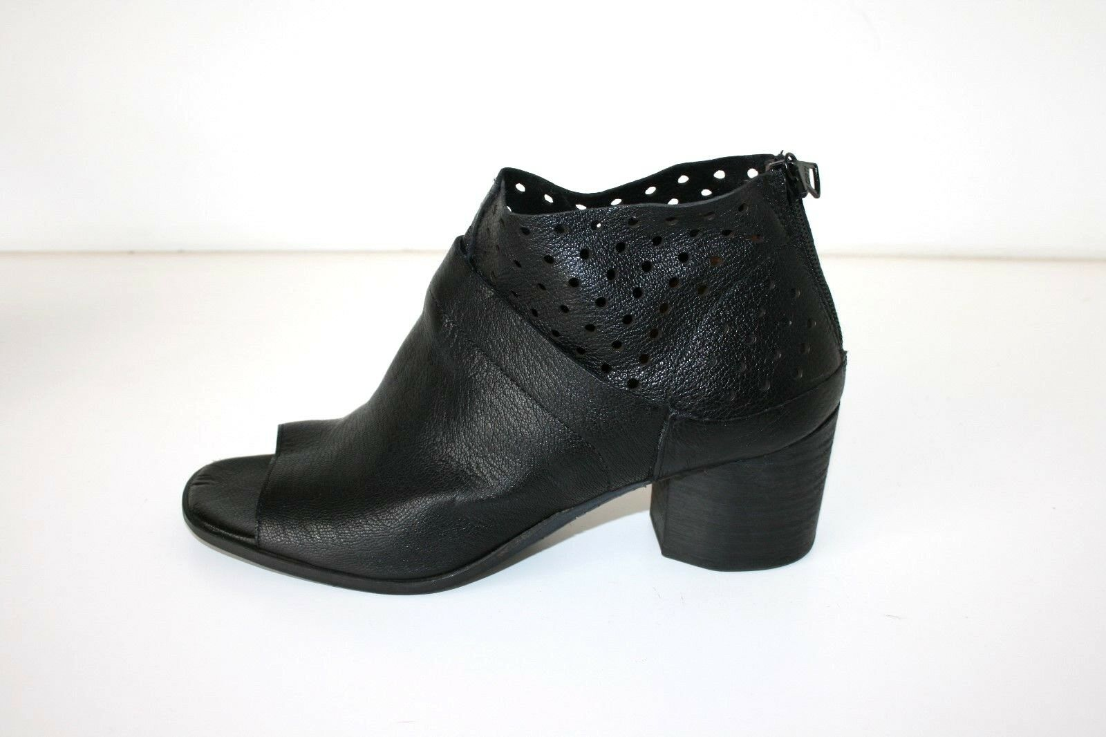 FILIPPO RAPHAEL schwarz Leder block heel schuhe - Größe 37, 249 AS NEW