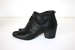 FILIPPO-RAPHAEL-black-leather-block-heel-shoes-size-37-249-AS-NEW
