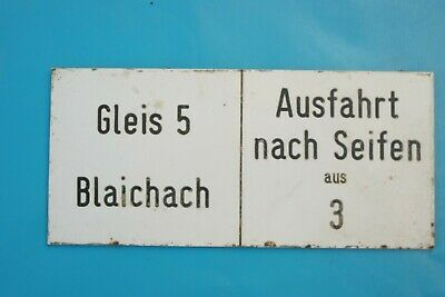 Transport Symbol Of The Brand Eisenbahnschild Lokschild > Gleis 5 Blaichach Ausfahrt ..< 18x9cm Kunststoff To Be Renowned Both At Home And Abroad For Exquisite Workmanship Skillful Knitting And Elegant Design