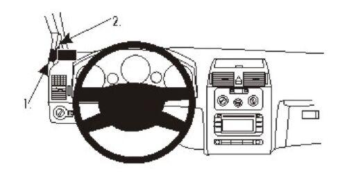 Brodit ProClip 804908 Montagekonsole für Volkswagen Touran Baujahr 2003-2015